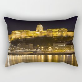 Budapest Chain Bridge And Castle Rectangular Pillow