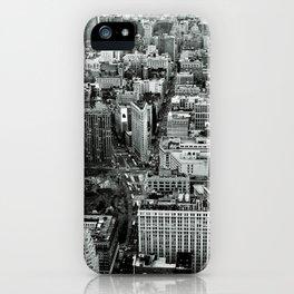 NEW YORK CITY # Black&White iPhone Case