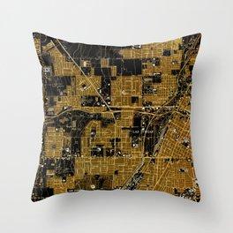 Las Vegas old map year 1967 Throw Pillow