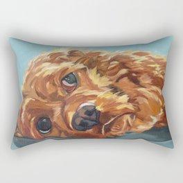 Newton the Lounging Cocker Spaniel Rectangular Pillow