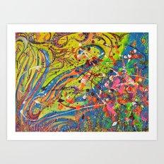 Fun Abstract works Art Print