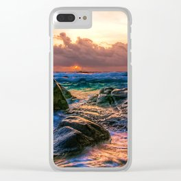 Sunset Storm Clear iPhone Case