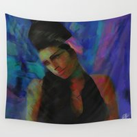 amy hamilton Wall Tapestries featuring Amy by Darla Designs
