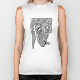 Horse doodle Biker Tank