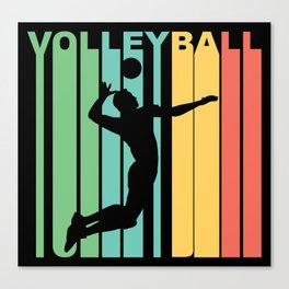 Retro Style Volleyball Player Canvas Print