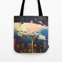 future Tote Bags featuring Future. by Polishpattern