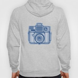 I Still Shoot Film Holga Logo - Reversed Blue Hoody