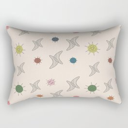 Midcentury Planets And Boomerangs 2 Rectangular Pillow