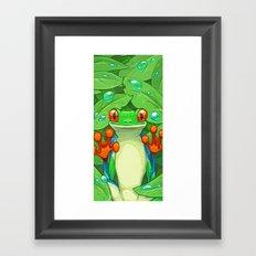 Frankie the Frog Framed Art Print