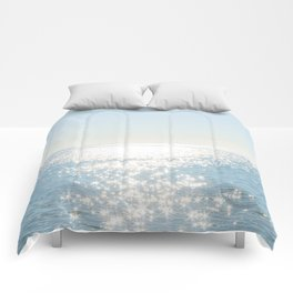 Electric Blue Ocean Comforters