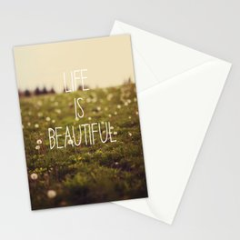 Life is Beautiful (Dandelion) Stationery Cards