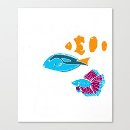 Aquarium Gift Aquarist Tank Addiction Fish Keeping Lover Canvas Print
