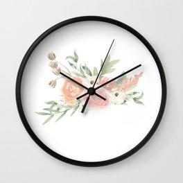 Loose Watercolor Florals Wall Clock
