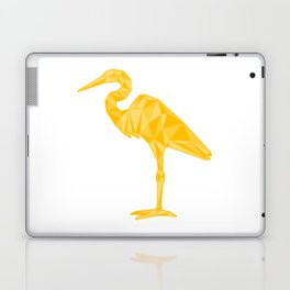 Low-Poly Egret Laptop & iPad Skin