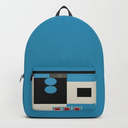 Abstract in Blue, Black, Red and Beige. See Companion Piece Backpack