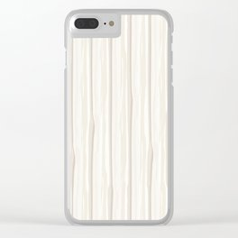 Creamy Off White SW7012 Vertical Grunge Abstract Line Pattern Clear iPhone Case