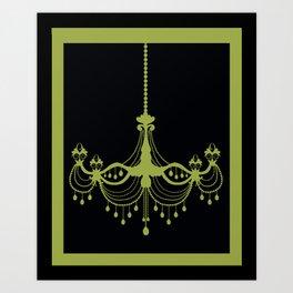 Chandelier art prints society6 chandelier wall art in purple art print aloadofball Image collections