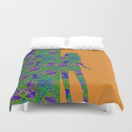 """""""Be yourself (Pop Fantasy Colorful Woman)"""" Duvet Cover"""