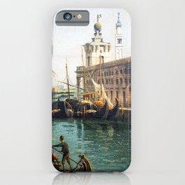 Bernardo Bellotto The Grand Canal from the Campo Santa Maria del Giglio with the Salute iPhone Case