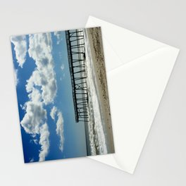 Silhouetted pier Stationery Cards
