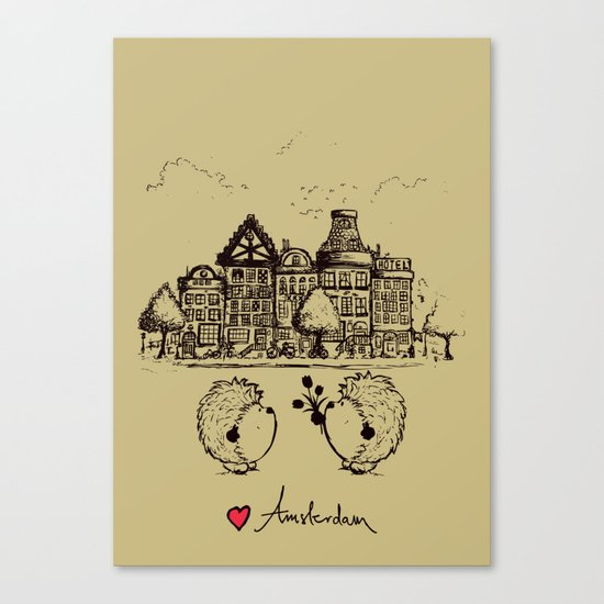 Hedgehogs in Amsterdam Canvas Print