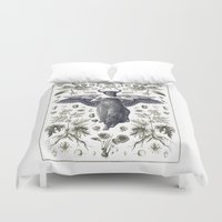 maleficent Duvet Covers featuring Maleficent by Heidi Ball