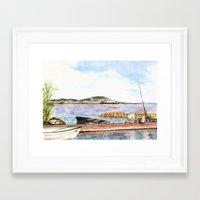 fishing Framed Art Prints featuring Fishing by Vargamari