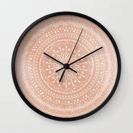 Geometric tribal mandala Wall Clock