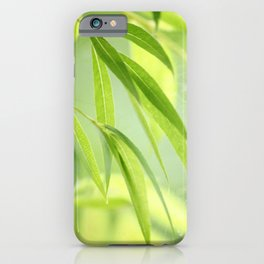 #Green #leaves #nature #pattern iPhone Case