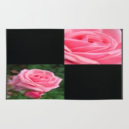 Pink Roses in Anzures 2 Blank Q2F0 Rug