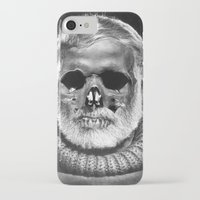 hemingway iPhone & iPod Cases featuring Hemingway Alive! by Oscar Sierra