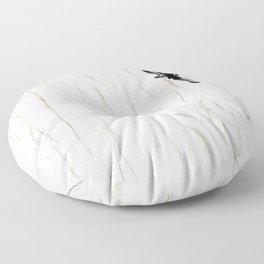 Woman Climbing a Wrinkle Floor Pillow
