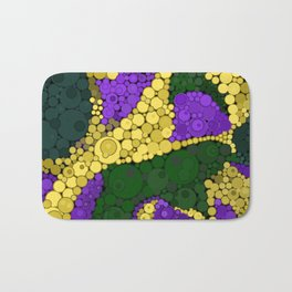 Gold river - abstract pattern Bath Mat