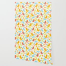 Easter Little Peeps Baby Chicks Pattern Wallpaper
