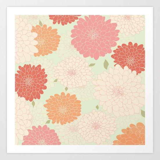 chrysantamums sugar crush Art Print