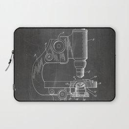 Microscope Patent - Scientist Art - Black Chalkboard Laptop Sleeve