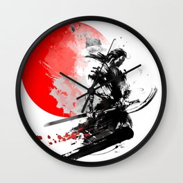 Japanese Warrior Wall Clock