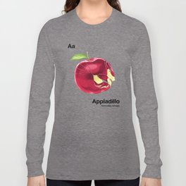 Aa - Appladillo // Half Armadillo, Half Apple Long Sleeve T-shirt