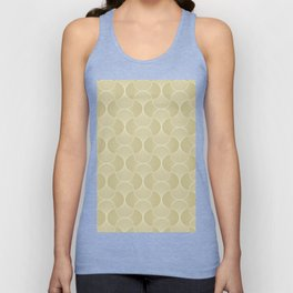 Scandinavian Floral - Art Deco Geometric Shapes Unisex Tank Top