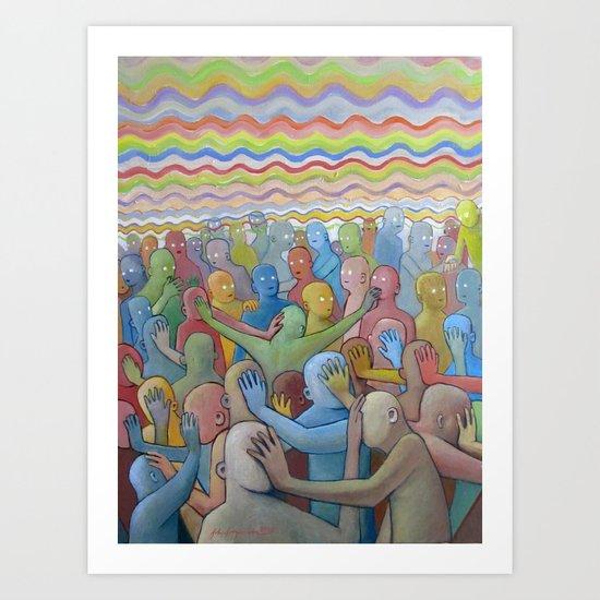 Altered Vibrations Art Print