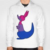 bisexual Hoodies featuring Bisexual Kangaroo by alashby