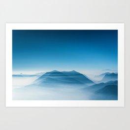 Blue Mountains (Color) Art Print