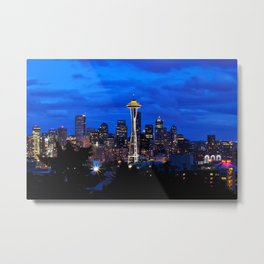 Seattle Skyline and Space Needle Metal Print