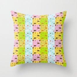 Beautiful Bears (Pattern) Throw Pillow