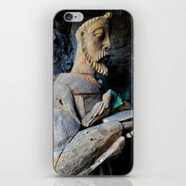 Wooden man iPhone Skin