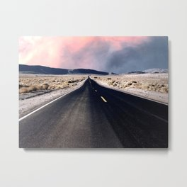 The long road ahead Metal Print