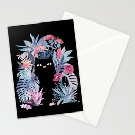 Popoki (Pastel Black Velvet) Stationery Cards