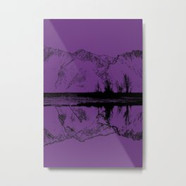 Knik River Mts. Pop Art - 2 Metal Print