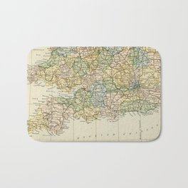 England and Wales Vintage Map Bath Mat