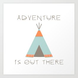 Adventure Is Out There (Blue) Art Print